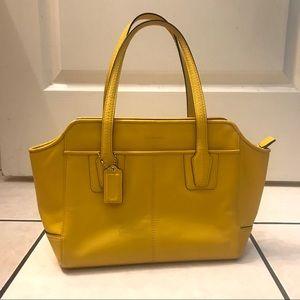 Yellow Coach Handbag